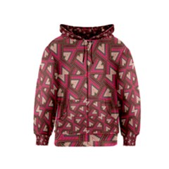 Digital Raspberry Pink Colorful  Kids  Zipper Hoodie