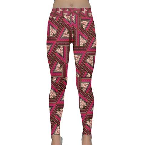 Digital Raspberry Pink Colorful  Yoga Leggings
