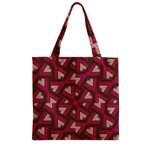 Digital Raspberry Pink Colorful  Zipper Grocery Tote Bag