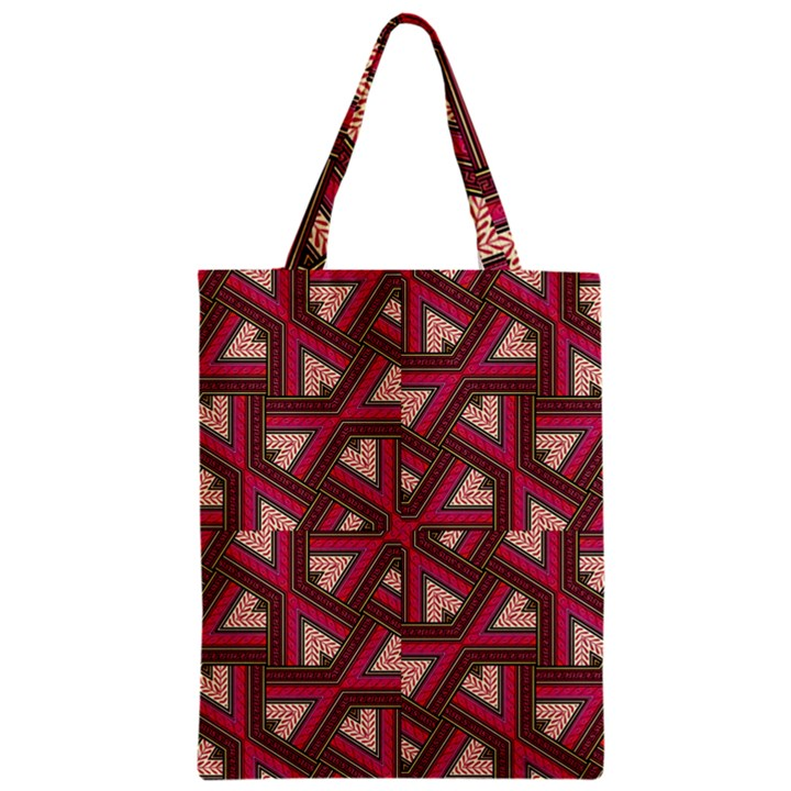 Digital Raspberry Pink Colorful  Zipper Classic Tote Bag