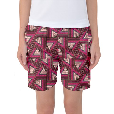 Digital Raspberry Pink Colorful  Women s Basketball Shorts