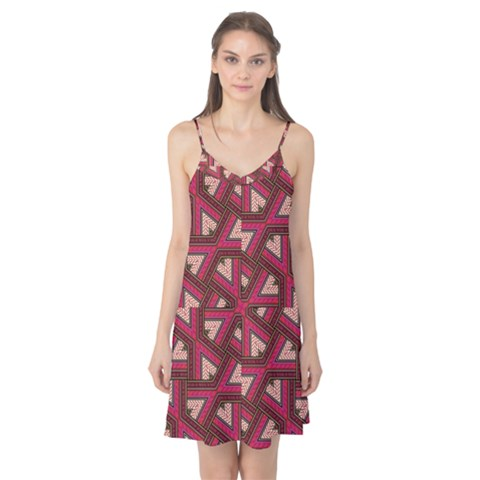 Digital Raspberry Pink Colorful  Camis Nightgown