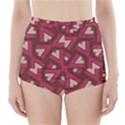 Digital Raspberry Pink Colorful  High-Waisted Bikini Bottoms View1