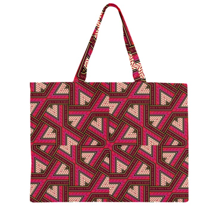 Digital Raspberry Pink Colorful  Large Tote Bag