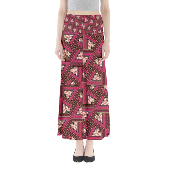 Digital Raspberry Pink Colorful  Maxi Skirts