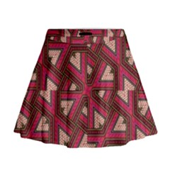 Digital Raspberry Pink Colorful  Mini Flare Skirt
