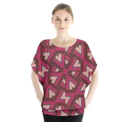 Digital Raspberry Pink Colorful  Blouse