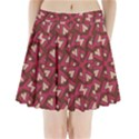 Digital Raspberry Pink Colorful  Pleated Mini Skirt View1