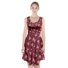 Digital Raspberry Pink Colorful  Racerback Midi Dress