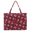 Digital Raspberry Pink Colorful  Medium Zipper Tote Bag View1