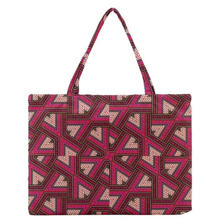 Digital Raspberry Pink Colorful  Medium Zipper Tote Bag