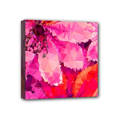 Geometric Magenta Garden Mini Canvas 4  X 4