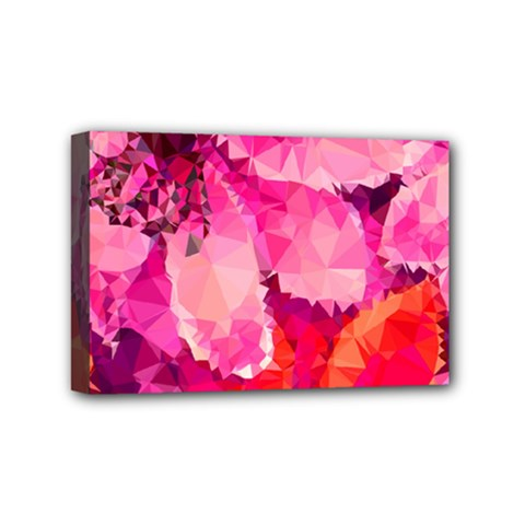 Geometric Magenta Garden Mini Canvas 6  X 4