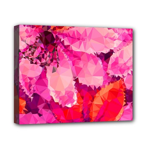 Geometric Magenta Garden Canvas 10  x 8