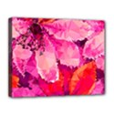 Geometric Magenta Garden Canvas 14  x 11  View1