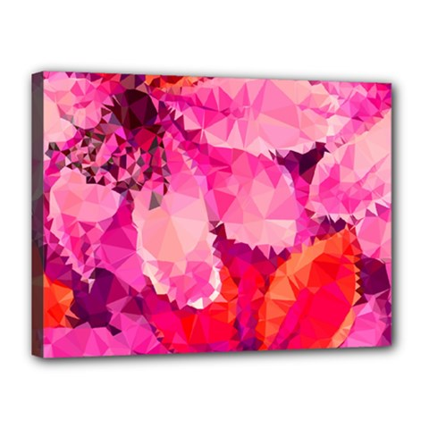 Geometric Magenta Garden Canvas 16  x 12