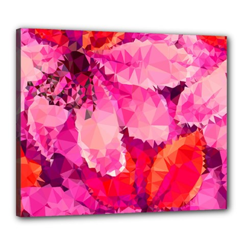 Geometric Magenta Garden Canvas 24  x 20