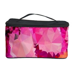 Geometric Magenta Garden Cosmetic Storage Case