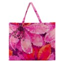 Geometric Magenta Garden Zipper Large Tote Bag View1