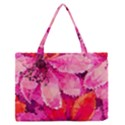 Geometric Magenta Garden Medium Zipper Tote Bag View1