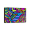 Pop Art Paisley Flowers Ornaments Multicolored Mini Canvas 6  x 4  View1