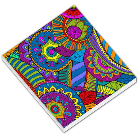 Pop Art Paisley Flowers Ornaments Multicolored Small Memo Pads