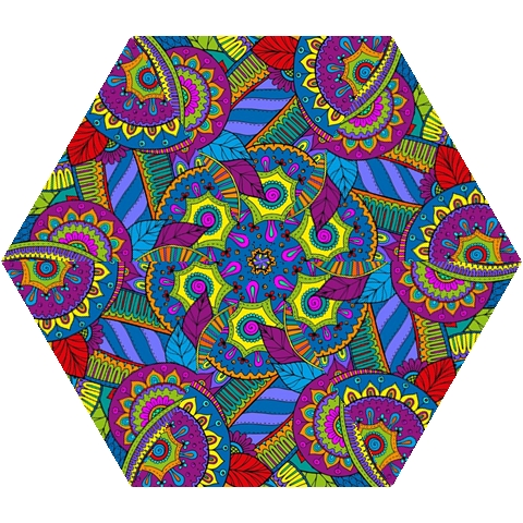 Pop Art Paisley Flowers Ornaments Multicolored Mini Folding Umbrellas