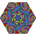 Pop Art Paisley Flowers Ornaments Multicolored Mini Folding Umbrellas View1