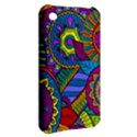 Pop Art Paisley Flowers Ornaments Multicolored Apple iPhone 3G/3GS Hardshell Case View2
