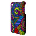 Pop Art Paisley Flowers Ornaments Multicolored Apple iPhone 3G/3GS Hardshell Case View3