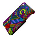 Pop Art Paisley Flowers Ornaments Multicolored Apple iPhone 3G/3GS Hardshell Case View4