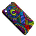 Pop Art Paisley Flowers Ornaments Multicolored Apple iPhone 3G/3GS Hardshell Case View5