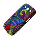 Pop Art Paisley Flowers Ornaments Multicolored Samsung Galaxy S III Hardshell Case  View4