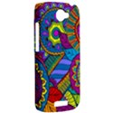 Pop Art Paisley Flowers Ornaments Multicolored HTC One S Hardshell Case  View2