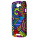 Pop Art Paisley Flowers Ornaments Multicolored HTC One S Hardshell Case  View3