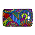 Pop Art Paisley Flowers Ornaments Multicolored HTC ChaCha / HTC Status Hardshell Case  View1