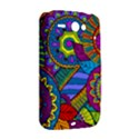 Pop Art Paisley Flowers Ornaments Multicolored HTC ChaCha / HTC Status Hardshell Case  View2