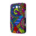 Pop Art Paisley Flowers Ornaments Multicolored HTC ChaCha / HTC Status Hardshell Case  View3