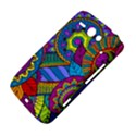 Pop Art Paisley Flowers Ornaments Multicolored HTC ChaCha / HTC Status Hardshell Case  View4