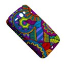 Pop Art Paisley Flowers Ornaments Multicolored HTC ChaCha / HTC Status Hardshell Case  View5