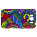 Pop Art Paisley Flowers Ornaments Multicolored HTC Sensation XL Hardshell Case View1