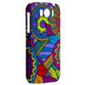 Pop Art Paisley Flowers Ornaments Multicolored HTC Sensation XL Hardshell Case View2