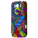Pop Art Paisley Flowers Ornaments Multicolored HTC Sensation XL Hardshell Case View3