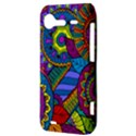Pop Art Paisley Flowers Ornaments Multicolored HTC Incredible S Hardshell Case  View3