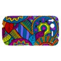 Pop Art Paisley Flowers Ornaments Multicolored HTC Desire S Hardshell Case View1