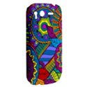 Pop Art Paisley Flowers Ornaments Multicolored HTC Desire S Hardshell Case View2