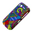 Pop Art Paisley Flowers Ornaments Multicolored HTC Desire S Hardshell Case View4