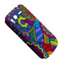 Pop Art Paisley Flowers Ornaments Multicolored HTC Desire S Hardshell Case View5