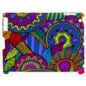 Pop Art Paisley Flowers Ornaments Multicolored Apple iPad 2 Hardshell Case (Compatible with Smart Cover) View1
