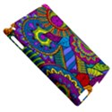 Pop Art Paisley Flowers Ornaments Multicolored Apple iPad 2 Hardshell Case (Compatible with Smart Cover) View5